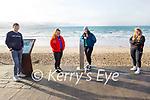 Liam Shanahan, Megan Casey Lawlor, Chantelle Kenny and Lisa Carney enjoying a stroll in Ballyheigue on Sunday.