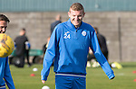 St Johnstone Training….28.10.16<br />Brian Easton pictured during training this morning at McDiarmid Park ahead of tomorrow's game against Partick Thistle.<br />Picture by Graeme Hart.<br />Copyright Perthshire Picture Agency<br />Tel: 01738 623350  Mobile: 07990 594431