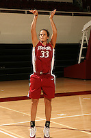 17 October 2005: Jillian Harmon during photo day for the women's basketball team at Maples Pavilion in Stanford, CA.