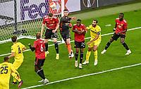 26th May 2021; STADION GDANSK GDANSK, POLAND; UEFA EUROPA LEAGUE FINAL, Villarreal CF versus Manchester United:  Scott McTominay, David de Gea, Aaron Wan-Bissaka
