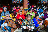 Traditional buddhist and social gathering at the National Memorial Choeten in Thimpu, Bhutan