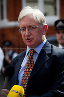 Craig Murray (British political activist, former ambassador to Uzbekistan and former Rector of the University of Dundee).<br /> <br /> London, 19/08/2012. Today, Julian Assange made his first speech after two months (19th June 2012) he has been living as a refugee in the Ecuadorian Embassy in London. On Thursday he was granted Diplomatic Asylum by the President of Ecuador, Rafael Correa. Previously, Baltasar Garzón (former Spanish Judge, now head of Assange legal team), Tariq Ali, Craig Murrey and others had made speeches in support and solidarity with the Australian Journalist founder of Wikileaks.