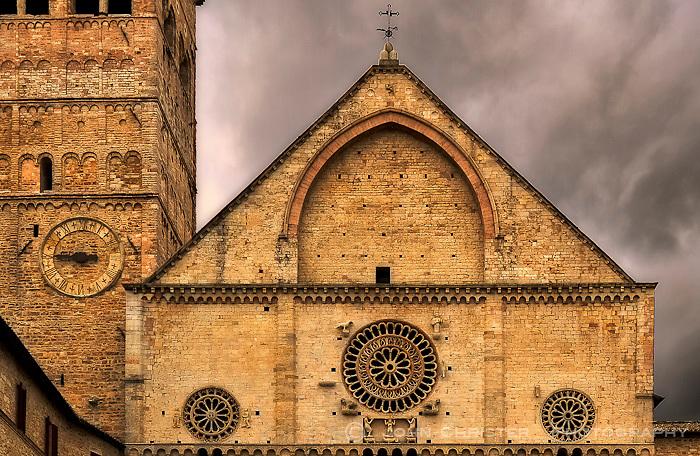 The Romanesque facade of the Basilica di San Rufino
