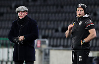 Grimsby Town manager Ian Holloway and first team coach Ben Davies watch on<br /> <br /> Photographer Alex Dodd/CameraSport<br /> <br /> EFL Papa John's Trophy - Northern Section - Group H - Hull City v Grimsby Town - Tuesday 17th November 2020 - KCOM Stadium - Kingston upon Hull<br />  <br /> World Copyright © 2020 CameraSport. All rights reserved. 43 Linden Ave. Countesthorpe. Leicester. England. LE8 5PG - Tel: +44 (0) 116 277 4147 - admin@camerasport.com - www.camerasport.com