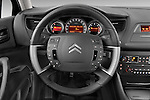 Steering wheel view of a 2010 Citroen C5 Dynamique 5 Door Wagon 2WD