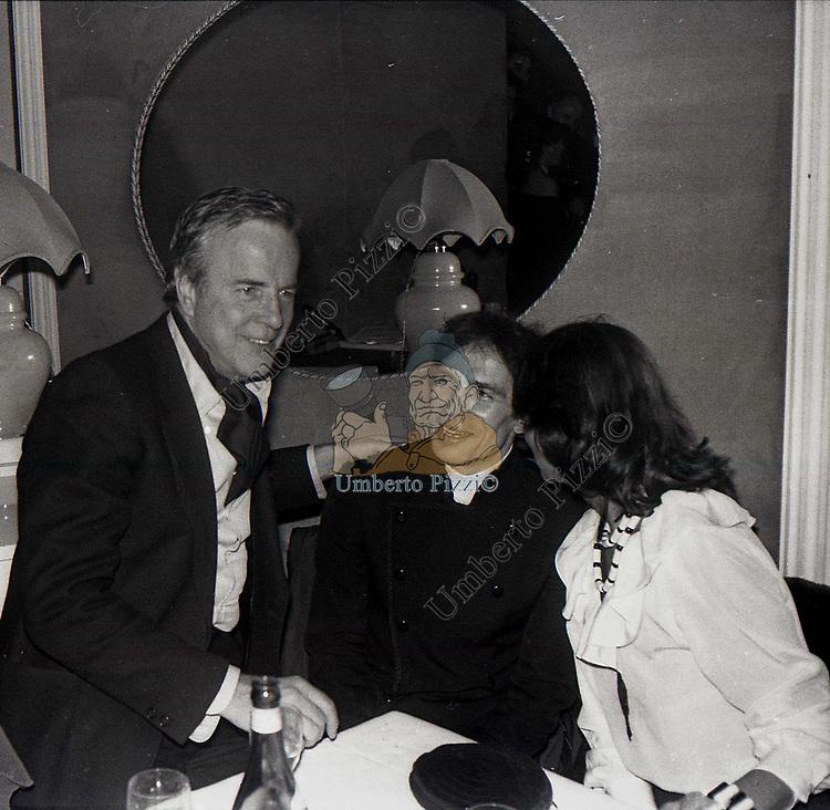 FRANCO ZEFFIRELLI , RUDOLF NUREYEV ED ELSA MARTINELLI<br /> BELLA BLU ROMA 1980