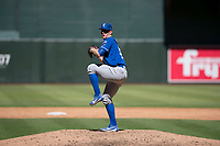 Kansas City Royals relief pitcher Carter Hope (32) delivers a pitch to the plate during an Instructional League game against the Arizona Diamondbacks at Chase Field on October 14, 2017 in Scottsdale, Arizona. (Zachary Lucy/Four Seam Images)