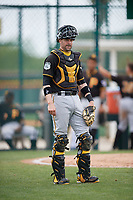 Pittsburgh Pirates catcher Chris Stewart (19) during a minor league Extended Spring Training intrasquad game on April 1, 2017 at Pirate City in Bradenton, Florida.  (Mike Janes/Four Seam Images)