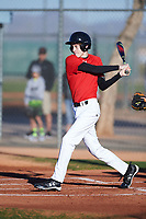 Matthew (Tyler) Ingram (47), from Henryville, Indiana, while playing for the Cardinals during the Under Armour Baseball Factory Recruiting Classic at Red Mountain Baseball Complex on December 28, 2017 in Mesa, Arizona. (Zachary Lucy/Four Seam Images)