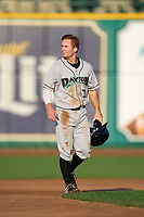 Dayton Dragons shortstop Matt McLain (23) during a game against the Fort Wayne TinCaps on August 25, 2021 at Parkview Field in Fort Wayne, Indiana.  (Mike Janes/Four Seam Images)