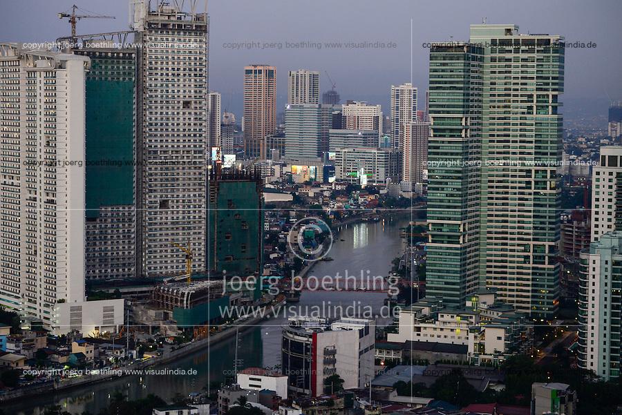 PHILIPPINES, Manila, suburban Makati, high buildings, Pasig River / PHILIPPINEN, Manila, Stadtteil Makati, Hochhaeuser, Pasig River