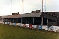 General view of Tamworth FC, The Lamb Ground, Tamworth, Staffordshire, pictured on 16th April 1990