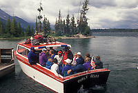 Jenny Lake, Grand Teton National Park, WY, Jackson Hole, Wyoming, Boat excursion on Jenny Lake in Grand Teton Nat'l Park in Wyoming.