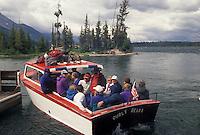 Jenny Lake, Grand Teton National Park, WY, Jackson Hole, Wyoming, Boat excursion on Jenny Lake in Grand Teton Nat'l Park in Wyoming.