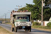 Cuba, LKW als Omnibus  bei  Sancti Spiritus