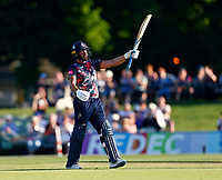 Jack Leaning celebrates his fifty for Kent during Kent Spitfires vs Gloucestershire, Vitality Blast T20 Cricket at The Spitfire Ground on 13th June 2021