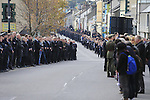 The Funeral of Garda Anthony Golden RIP in St Oliver's church Blackrock Co Louth.<br /> <br /> Garda Golden was guned down in Omeath last Sunday.<br /> Picture Newsfile | Fran Caffrey