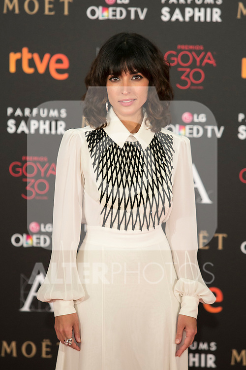 Inma Cuesta attends 30th Goya Awards red carpet in Madrid, Spain. February 06, 2016. (ALTERPHOTOS/Victor Blanco)