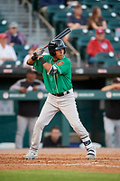 Norfolk Tides shortstop Engelb Vielma (7) at bat during an International League game against the Buffalo Bisons on June 22, 2019 at Sahlen Field in Buffalo, New York.  Buffalo defeated Norfolk 3-0.  (Mike Janes/Four Seam Images)
