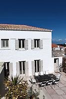 stone house facade
