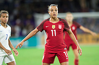 Orlando, FL - Wednesday March 07, 2018: Mallory Pugh during the She Believes Final Cup Match featuring USA Women's National Team vs. Englands Women's National Team