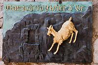 Europe/France/Provence-Alpes-Côte d'Azur/06/Alpes-Maritimes/Èze-Village: Enseigne du restaurant: La Chèvre d'Or [Non destiné à un usage publicitaire - Not intended for an advertising use]