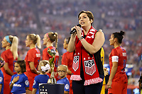 CHARLOTTE, NC - OCTOBER 03: The National anthem of the United States during their game versus Korea Republic at Bank of American Stadium, on October 03, 2019 in Charlotte, NC.