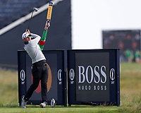 16th July 2021; Royal St Georges Golf Club, Sandwich, Kent, England; The Open Championship Tour Golf, Day Two; Daniel Croft (ENG) hirs his driver from the tee at the 17th hole