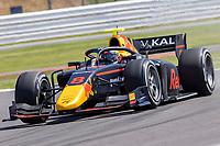 16th July 2021; Silverstone Circuit, Silverstone, Northamptonshire, England; F2 British Grand Prix, Free Practice; Juri Vips in his Hitech Grand Prix Dallara F2 2018