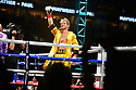 """MIAMI GARDENS, FLORIDA - JUNE 06: YouTube personality Logan """"Maverick"""" Paul (yellow shorts) enter the ring for contracted eight-round exhibition boxing match with Former world welterweight Floyd """"Money"""" Mayweather at Hard Rock Stadium on June 06, 2021 in Miami Gardens, Florida. ( Photo by Johnny Louis / jlnphotography.com )"""