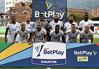 ENVIGADO - COLOMBIA, 20–02-2021: Jugadores de Atletico Bucaramanga posan para una foto, antes de partido entre Envigado F. C. y Atletico Bucaramanga de la fecha 8 por la Liga BetPlay DIMAYOR I 2021, en el estadio Polideportivo Sur de la ciudad de Envigado. / Players of Atletico Bucaramanga pose for a photo, prior a match between Envigado F. C., and Atletico Bucaramanga of the 8th date for the BetPlay DIMAYOR I 2021 League at the Polideportivo Sur stadium in Envigado city. Photo: VizzorImage / Luis Benavides / Cont.
