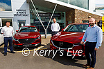 Aherns Mazda Sales team, l to r: Pat Ahern, Barry Ryan and Seamus Murphy