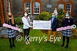 The students and staff of the Castleisland Presentation secondary school present a cheque of €500 to the Kerry Mental Health Association at the school on Friday. L to r: Deirdre Moynihan, Katherina Broderick (Principal), John Drummey (Kerry Mental Health Association) and Ella Walsh.
