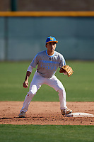 Kaysen Kajiwara during the Under Armour All-America Pre-Season Tournament, powered by Baseball Factory, on January 19, 2019 at Sloan Park in Mesa, Arizona.  Kaysen Kajiwara is an outfielder / second baseman from Mililani, Hawaii who attends Damien Memorial Schools.  (Mike Janes/Four Seam Images)