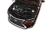 Car Stock 2016 Lexus RX Executive 5 Door SUV Engine  high angle detail view