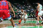 DENTON, TX - FEBRUARY 22: North Texas Mean Green Men's Basketball v Louisiana Tech Bulldogs at Super Pit - North Texas Coliseum on February 22, 2020 in Denton, Texas.
