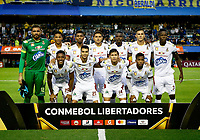 "BUENOS AIRES-ARGENTINA, 12-03- 2019: Los jugadores de Deportes Tolima (COL), posan para una foto, antes de partido de la fase de grupos, grupo G, fecha 2, entre Boca Juniors (ARG) y Deportes Tolima (COL), por la Copa Conmebol Libertadores 2019, en el estadio Alberto J. Armando ""La Bombonera"", de la ciudad Ciudad Autónoma de Buenos Aires. / The players of Deportes Tolima (COL), pose for a photo, prior a match of the groups phase, group G, 2nd date, beween Boca Juniors (ARG) and Deportes Tolima (COL), for the Conmebol Libertadores Cup 2018, at the Alberto J. Armando ""La Bombonera"" Stadium, in Ciudad Autonoma de Buenos Aires.  Photo: VizzorImage / Javier García Martino / Photogamma / Cont."