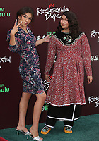 """TULSA, OK - AUGUST 2: Paulina Alexis and Devery Jacobs attend the Red Carpet Event for the Series Premiere of FX's """"Reservation Dogs"""" at Circle Cinema on August 2, 2021 in Tulsa, Oklahoma. (Photo by Tom Gilbert/FX/PictureGroup)"""