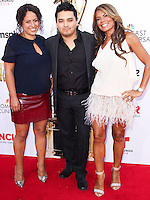 PASADENA, CA, USA - OCTOBER 10: Douglas Spain, Christine Davila, Lisa Vidal arrive at the 2014 NCLR ALMA Awards held at the Pasadena Civic Auditorium on October 10, 2014 in Pasadena, California, United States. (Photo by Celebrity Monitor)