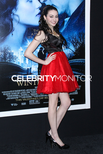 """NEW YORK, NY - FEBRUARY 11: Meredith O'Connor at the World Premiere Of Warner Bros. Pictures' """"Winter's Tale"""" held at Ziegfeld Theatre on February 11, 2014 in New York City. (Photo by Jeffery Duran/Celebrity Monitor)"""
