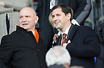 St Johnstone v Dundee United...19.04.14    SPFL<br /> Dundee Utd Chairman Stephen Thompson and his manager Jackie McNamara<br /> Picture by Graeme Hart.<br /> Copyright Perthshire Picture Agency<br /> Tel: 01738 623350  Mobile: 07990 594431