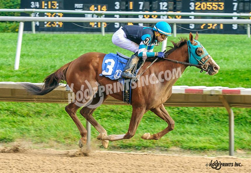 Dr. Ferber winning at Delaware Park on 10/6/21