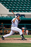 Detroit Tigers Nick Ames (53) follows through on a swing during a Florida Instructional League game against the Pittsburgh Pirates on October 6, 2018 at Joker Marchant Stadium in Lakeland, Florida.  (Mike Janes/Four Seam Images)