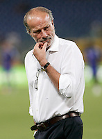 AS Roma's sporting director Walter Sabatini looks on prior to the start of an Europa League preliminary second leg football match between AS Roma and SK Slovan Bratislava, at Rome's Olympic stadium, Roma, 25 august 2011..UPDATE IMAGES PRESS/Riccardo De Luca
