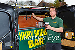 Alan Breen from Jimmy Briens bar has been busy delivering take away pints in the Killarney area