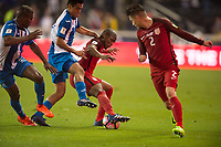San Jose, Ca - Friday March 24, 2017: Darlington Nagbe Jorge Villafaña during the USA Men's National Team defeat of Honduras 6-0 during their 2018 FIFA World Cup Qualifying Hexagonal match at Avaya Stadium.