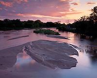 Sunset light on the Platte River in eastern Colrado.