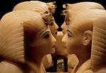 Alabaster canopic jars of Tutankhamun, Egypt; Archaeology; Book originals; New Kingdom,King Tut; Tutankhamun; Canopic jars, Egyptian Museum, Cario