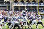 TCU Horned Frogs defensive tackle Chucky Hunter (96) in action during the game between the OSU Cowboys and the TCU Horned Frogs at the Amon G. Carter Stadium in Fort Worth, Texas. TCU defeated OSU 42 to 9.