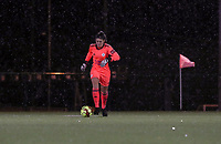 Goalkeeper Louise Van Den Bergh (1 OHL) with the ball during a female soccer game between Oud Heverlee Leuven and Sporting de Charleroi on the seventh matchday of the 2020 - 2021 season of Belgian Womens Super League , sunday 15 th of November 2020  in Heverlee , Belgium . PHOTO SPORTPIX.BE | SPP | SEVIL OKTEM
